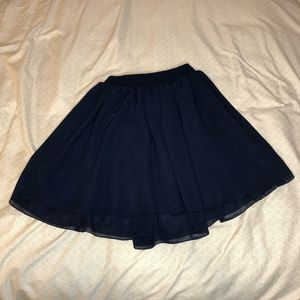 Chiffon by American Apparel Navy Skirt